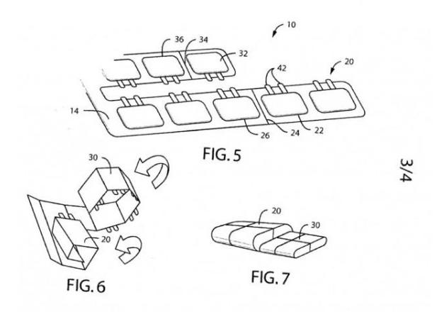 Patente da Nokia mostra sistema de bateria dobrável para smartphones e smartwatches (Foto: Reprodução/Ubergizmo)