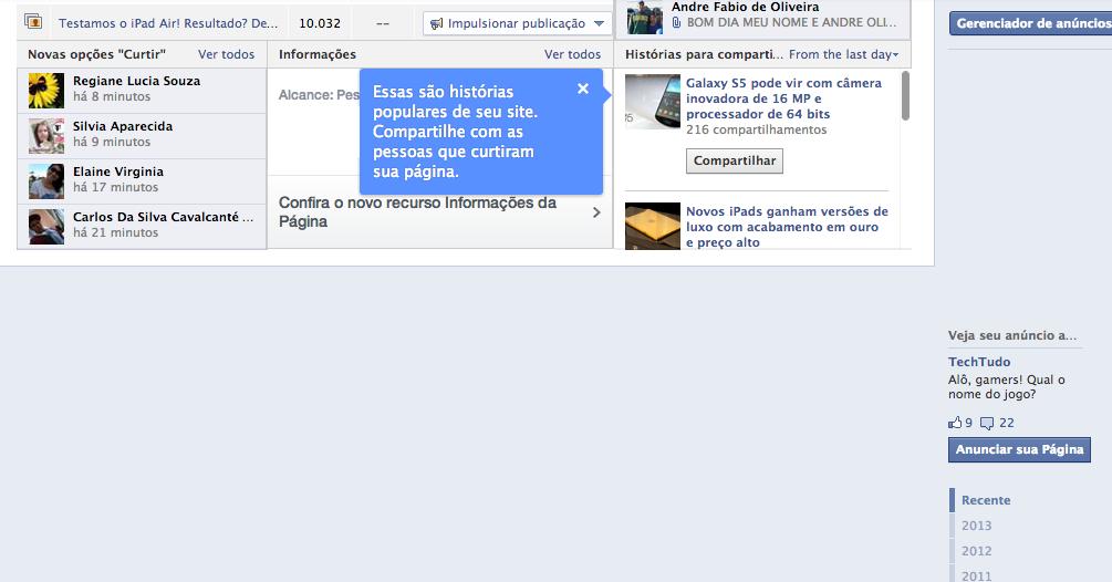 Facebook erro 2 (Foto: Reprodução/Facebook)