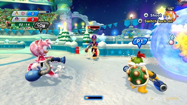 Mario & Sonic at the Sochi 2014 Olympic Winter Games (Foto: Divulgação)