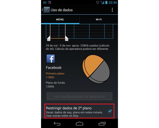 Marque a opção responsável por restringir dados em segundo plano (Foto: Reprodução/Thiago Bittencourt)