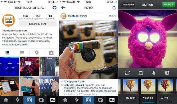 Instagram cria diversas possibilidades de fotos e vídeos com as diferentes opções de efeitos e enquadramentos (Foto: TechTudo)