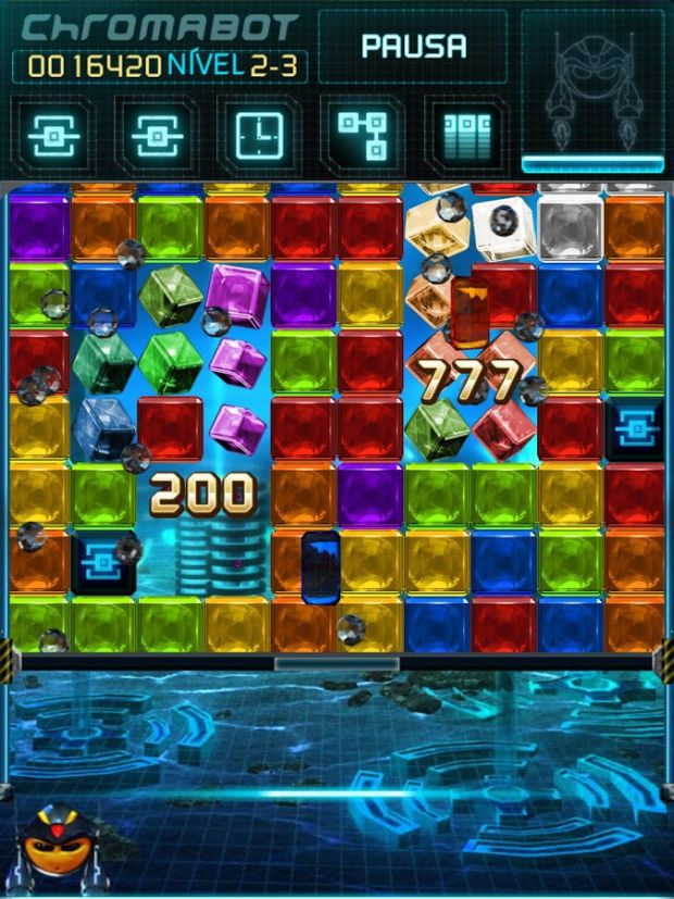 Objetivo de Chromabot: Combinar blocos coloridos para destruí-los (Foto: Divulgação)