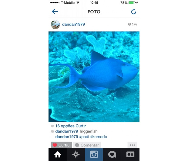 Fotos em tons azulados ganham mais curtidas no Instagram  (Foto: Reprodução/Aline Jesus)