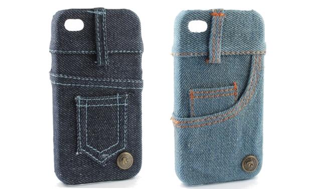 Capa para iPhone 4S de policarbonato imitando jeans (Foto: Divulgação/IphoneShopping)