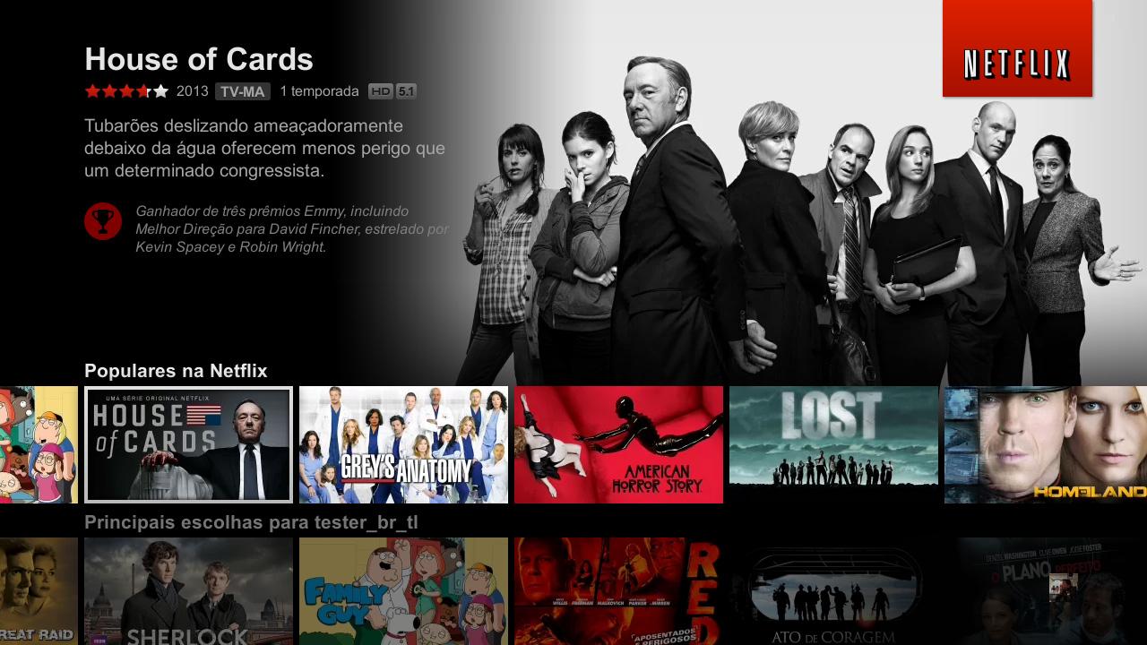 Fotos grandes e atraentes, além de informações relevantes na nova interface do Netflix (Foto: Divulgação/Netflix)