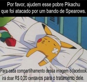 Meme do Pokémon satiriza pedidos de ajuda no Facebook. (Foto: Reprodução/G1)