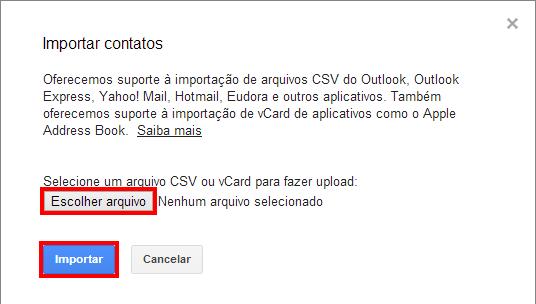 Importando contatos no Gmail (foto: Reprodução/João Kurtz)