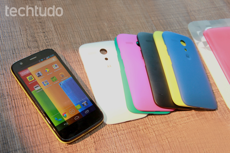 Moto G, a nova aposta da Motorola para o mercado de smartphones de baixo custo (Foto: Allan Melo/TechTudo)