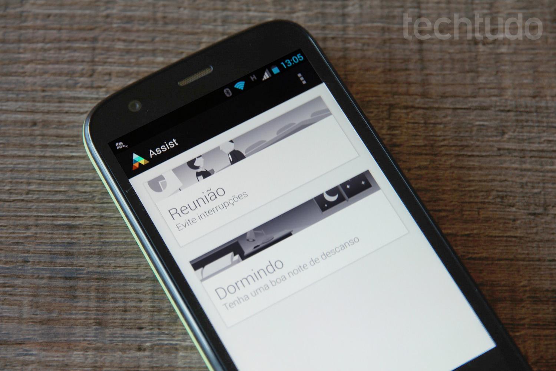 Motorola Assist é um dos apps pré-instalado no Moto G (Foto: Allan Melo/TechTudo)