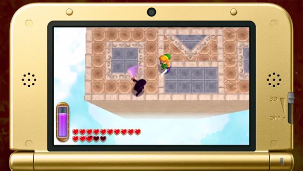 Shadow Link marca presença em The Legend of Zelda: A Link Between Worlds (Foto: Reprodução)