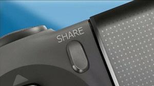 Detalhe do botão Share do Dual Shock 4. (Foto: Divulgação)