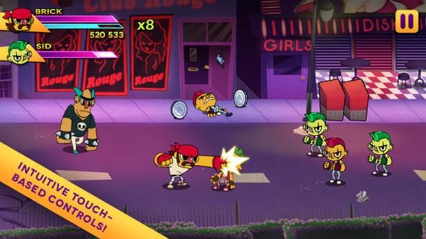 Big Action Mega Fight! é pancadaria a moda antiga no iOS (Foto: Divulgação)