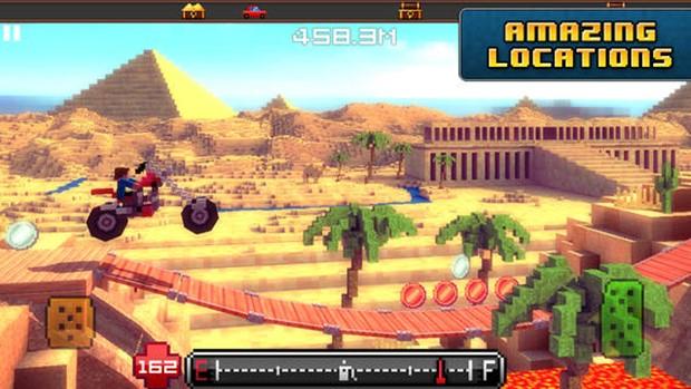 Blocky Roads mistura Minecraft com um game de corrida maluco (Foto: Divulgação)