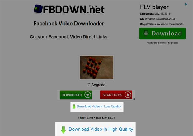 Escolhendo a qualidade do vídeo (Foto: Reprodução/Teresa Furtado)
