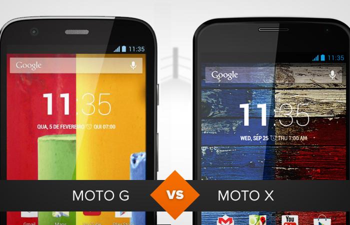 Moto G e Moto X (Foto: Arte/TechTudo)