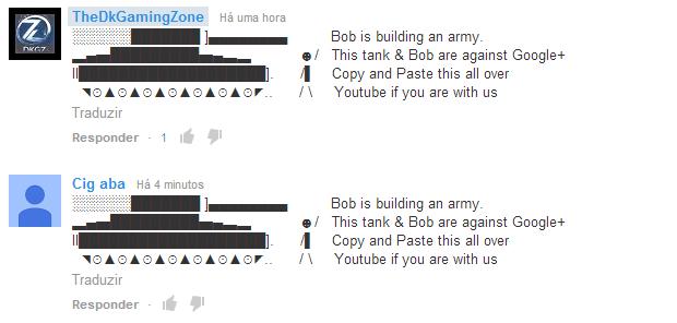 """Comentários com """"Bob"""" e o """"tanque"""" estão se espalhando (Foto: Reprodução/TechTudo)"""