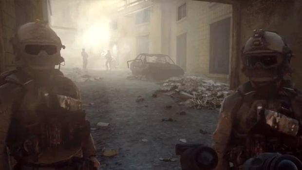 Soldados conversam com citações da série Battlefield Friends (Foto: Reprodução)