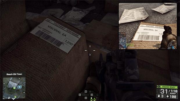 Caixas para a Visceral, criadora de Dead Space, em Battlefield 4 (Foto: IGN)