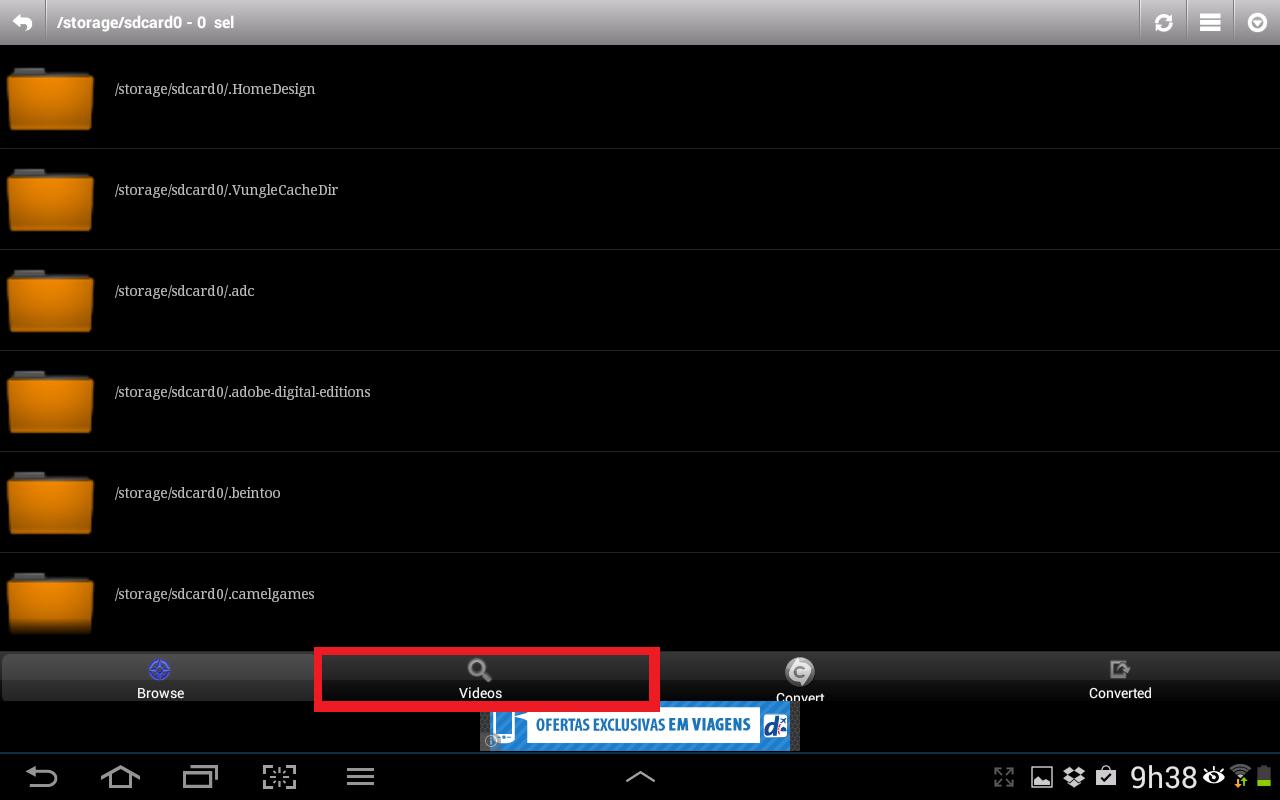 """Execute o app e selecione a aba """"Videos"""" (Foto: Reprodução/Daniel Ribeiro)"""