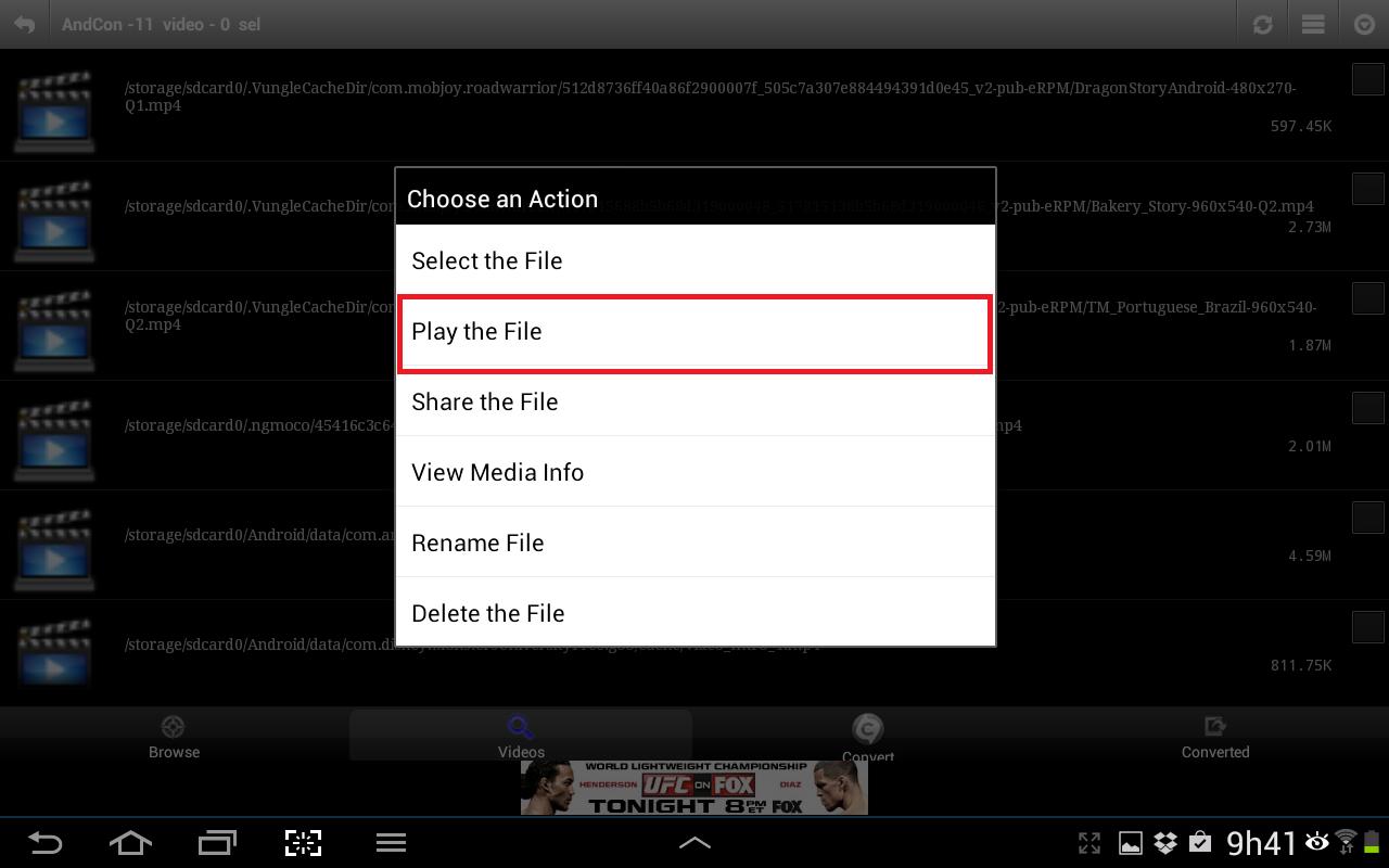 """Clique em um dos vídeos e selecione """"Play the File"""" (Foto: Reprodução/Daniel Ribeiro)"""