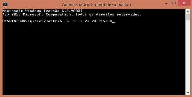 Com esse comando, seu antivírus vai eliminar os problemas do seu pendrive. Não se esqueça de substituir o X pela letra do drive em que o pendrive está localizado (Foto: Reprodução)