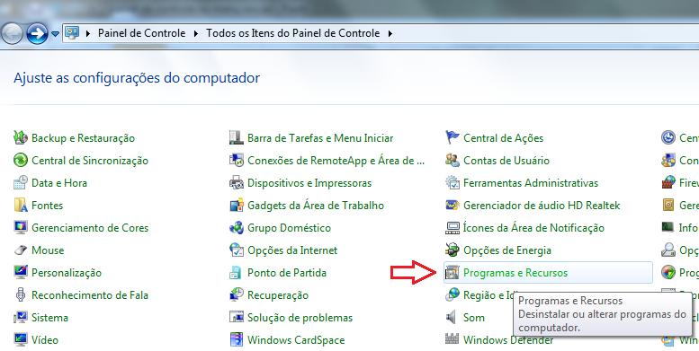 Desinstalação de programas no Windows (Foto: Reprodução/Marcela Vaz)