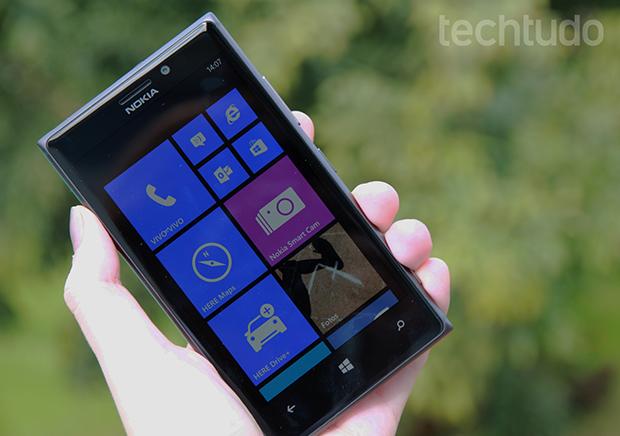 Estreado em uma versão preliminar no Lumia 925, 3D Touch da Nokia permitirá interagir com smartphone sem tocar na tela (Foto: Luciana Maline/TechTudo)