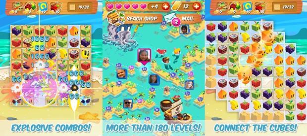 Juice Cubes é um puzzle com desafio leve e jogabilidade refrescante (Foto: Divulgação)