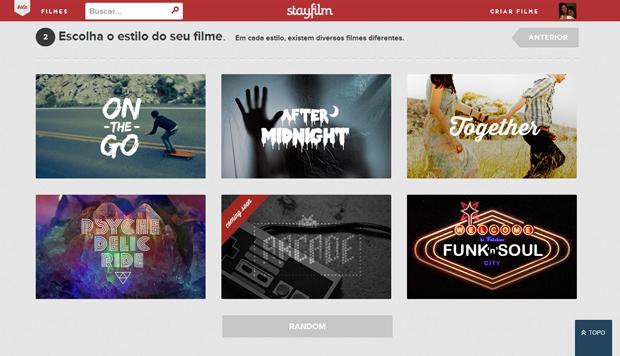 Rede social permite criar estilos diferentes de filmes (foto: Reprodução/João Kurtz)