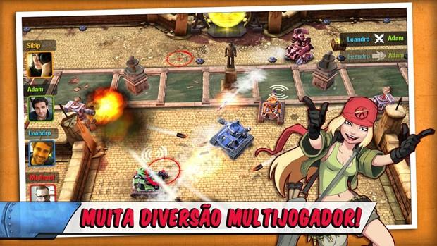 Tank Battles tem multiplayer divertido e viciante (Foto: divulgação)