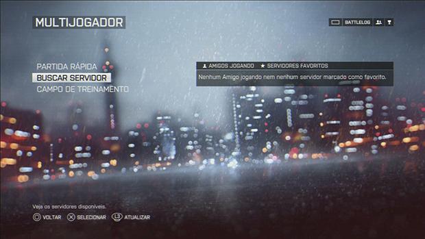 Battlefield 4: aprenda a personalizar a busca por servidores do game (Foto: reprodução/Murilo Molina)