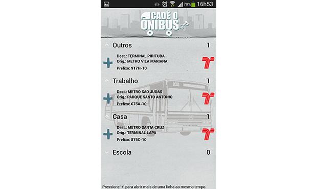 Cadê o ônibus  é o app mais completo disponível para Android (Foto: Reprodução)
