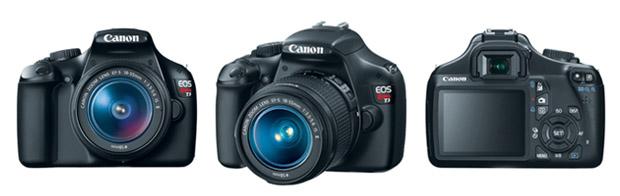 Canon T3 com resolução até a HD (720p)  e não tem o visor articulável (Foto: Divulgação/Canon)