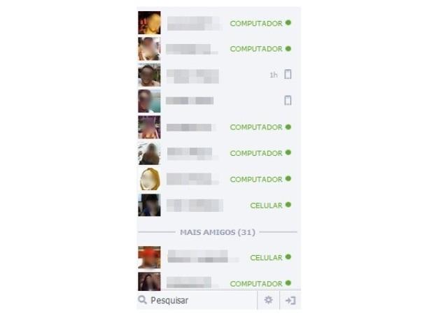 Chat do Facebook versão Desktop (Foto: Reprodução/Lívia Dâmaso)