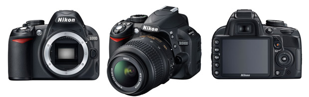 Nikon D3100 tem sensor de 14 megapixels e filma até a resolução Full HD a 24 fps (Foto: Divulgação/Nikon)