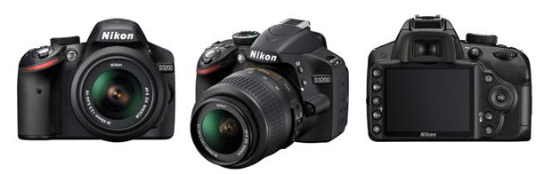 Nikon D3200 tem sensor de 24 megapixels e gravação em Full HD e HD (Foto: Divulgação/Nikon)