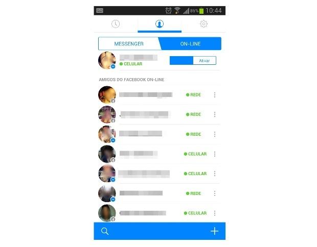 Messenger do Facebook versão mobile (Foto: Reprodução/Lívia Dâmaso)