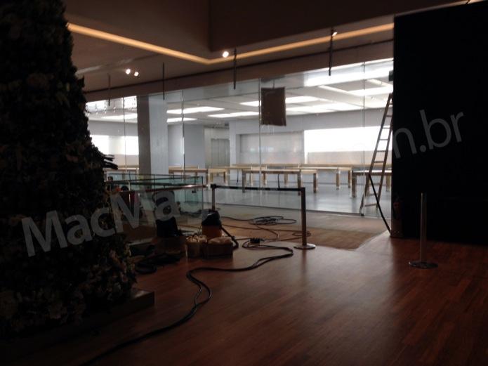 Foto da vazada da primeira Apple Store do Brasil (Foto: Reprodução/MacMagazine)