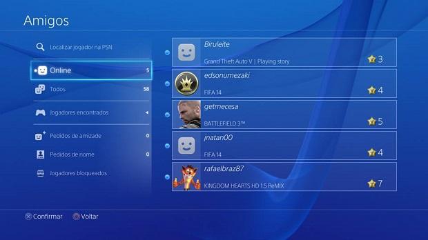 Amigos do PS3 seguem na lista do PSN (Foto: Reprodução/Thiago Barros)
