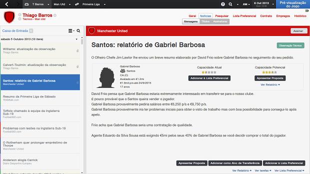 Gabriel, do Santos, é um jovem talentoso (Foto: Reprodução/Thiago Barros)
