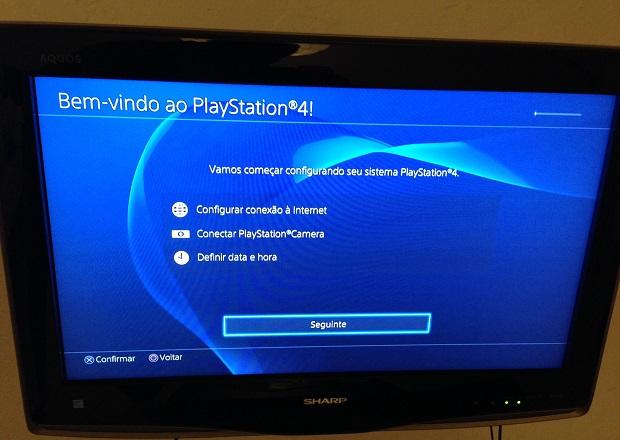 Pronto! PS4 está em português! (Foto: Reprodução/Thiago Barros)