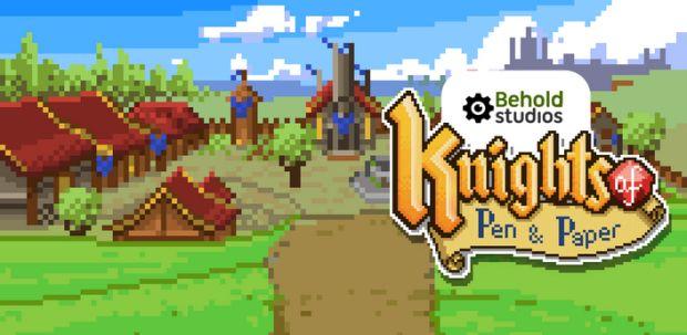 Knights of Pen & Paper, o jogo que a Behold Studios usou para selar a parceria com a Sony (Divulgação)