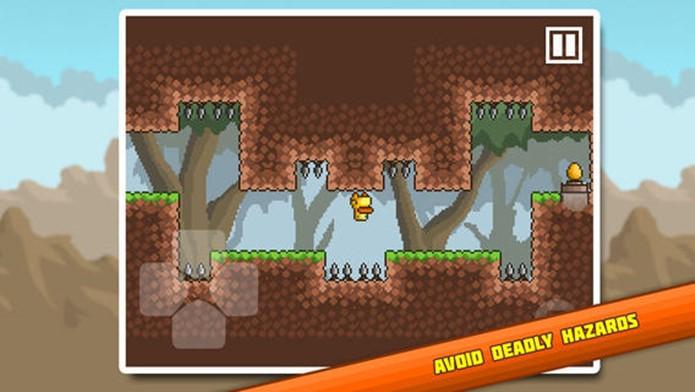 Gravit.Duck é um jogo de plataforma extramemente difícil (Foto: Divulgação)