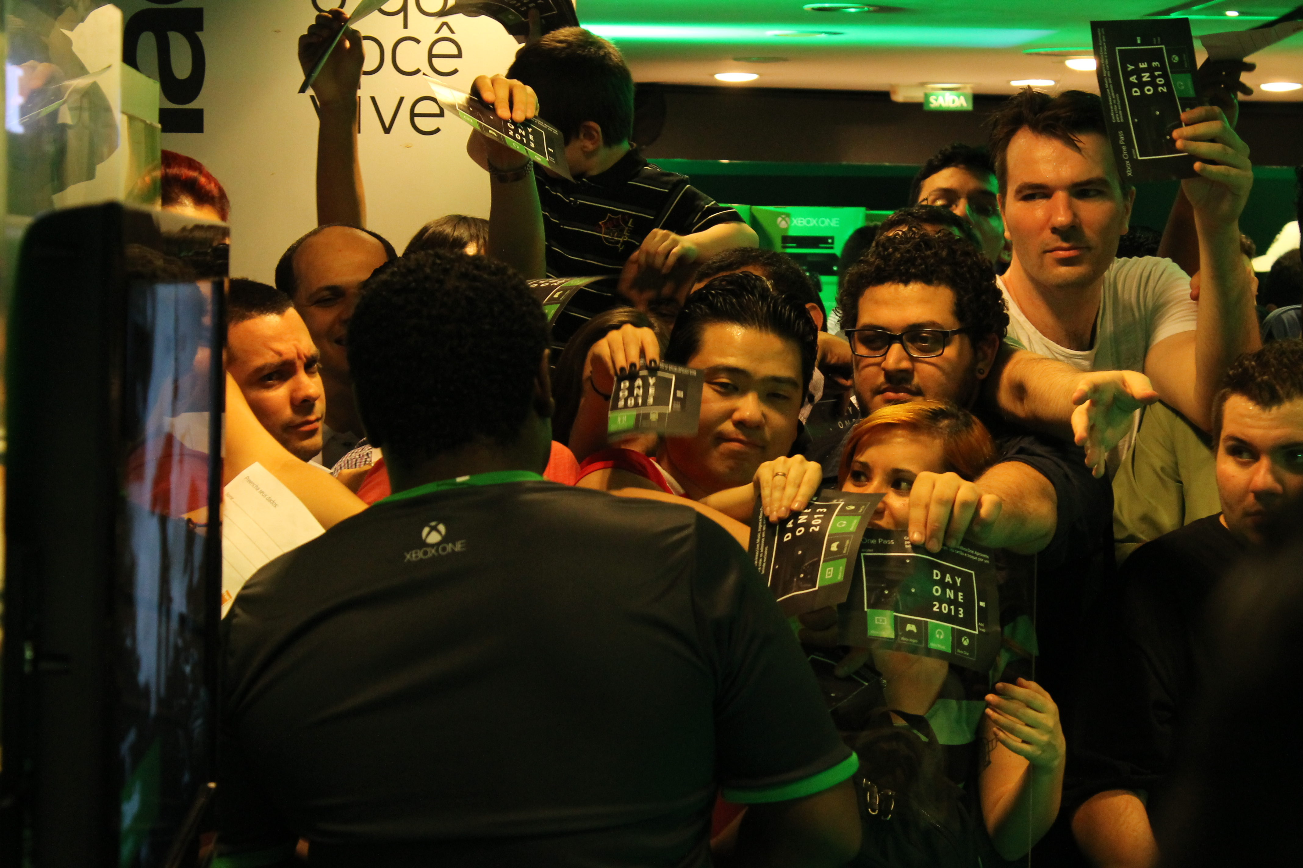 Evento de lançamento do Xbox One está sendo realizado na Fnac na Avenida Paulista (Foto: Leonardo Teixeira/ TechTudo)