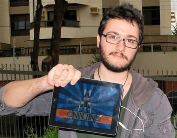 Rodrigo Zangelmi, da Pocket Trap, desenvolvedor que conversou com a Sony (Foto: André Rossi)