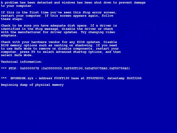 A mal afada tela azul do Windows (Foto: Reprodução / Techtudo) (Foto: A mal afada tela azul do Windows (Foto: Reprodução / Techtudo))