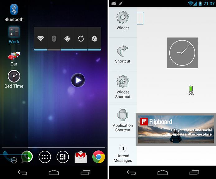 Overlay aumenta possibilidades com widgets (Foto: Divulgação)