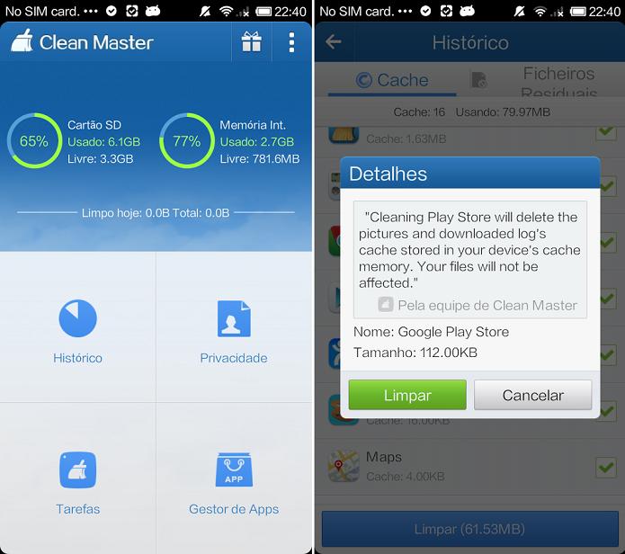 Otimize o Android com Clean Master (Foto: Reprodução/Thiago Barros)