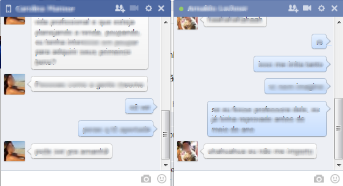 Nova janela do bate-papo do Facebook está bem parecida com aplicativos de chat (Foto: Reprodução/Lívia Dâmaso)