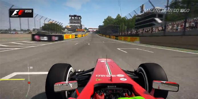 Felipe Massa correndo em Interlagos. (Foto: Reprodução)